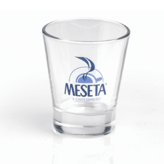 coffee shot glass clear (caffeino) x 6